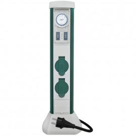 Steckdosensäule, GREEN CRAFT, 2 Steckdosen 3 Leitungseinführungen bis 5 x 2,5²mm