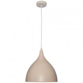 Pendelleuchte, Wohnraumleuchten 1 x E27 / 60W Metall cappucinofarben innen weiß