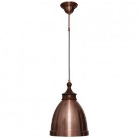 Pendelleuchte, Wohnraumleuchten 1 x E27 / 60W Metall kupfer dunkles Holz