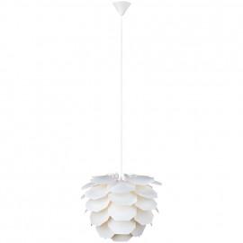 Pendelleuchte, Wohnraumleuchten SIGN, 1 x E27 / 60W Kunststoff weißes Pendel