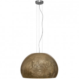 Pendelleuchte, Wohnraumleuchten 1 x E27 / 60W, Metall Nickel matt Massivglas Blattmuster