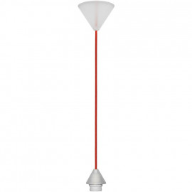 Lampen Leuchtenpendel, 1 x E27 / 60W, rot Länge 1200mm