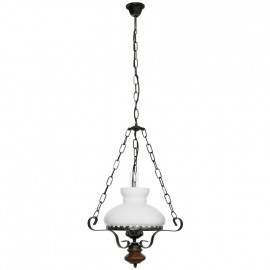 Pendelleuchte, Wohnraumleuchten 1 x E27 / 75W Schirm Innenglas klar Außenglas opal