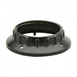 Kunststoff Fassungen ISO Gegenring E27, schwarz 2 Stück