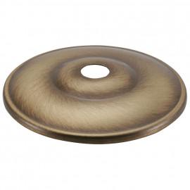 Lampen Kuppelscheibe, Ø 65 mm, Messing fumé