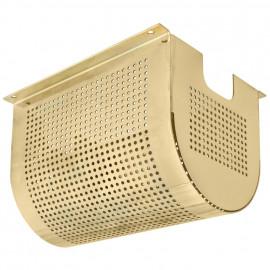 Trafogehäuse Deko für Niedervolt Halogentrafos, Metall gold poliert