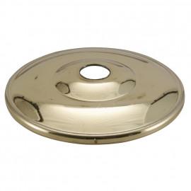 Lampen Kuppelscheibe, Ø 65 mm, Messing poliert