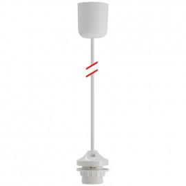 Lampen Leuchtenpendel, 1 x E27, weiß Länge 800mm
