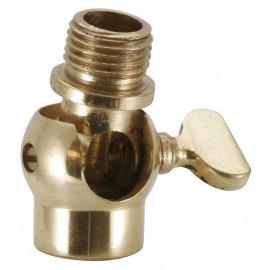 Lampen Kippgelenk, Messing poliert, M10