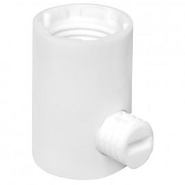 Leuchten Klemmnippel, Nylon, weiß, M10 Durchgang Ø 6 mm