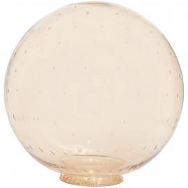 Lampenglas Gold Blasen, Ø 215 mm, Lochrand Ø 82 mm