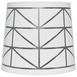 Leuchtenschirm, Textil weiß / silber für E14 / E27 Fassungen Ø 170 mm, Höhe 150 mm