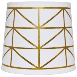 Leuchtenschirm, Textil weiß / gold für E14 / E27 Fassungen Ø 170 mm, Höhe 150 mm