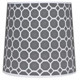 Leuchtenschirm, Textil weiß / grau für E14 / E27 Fassungen Ø 170 mm, Höhe 150 mm