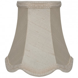 Stoff Aufsteckschirm, für E14 Lampe Indienseide Höhe 130 mm