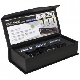 LED Taschenlampe JF11, 1 blaue LED / 5W Länge 146mm Ø 36mm - Leuchtwert