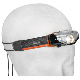 LED Stirnlampe HR110, 1 LED, schwarz - Leucht Wert