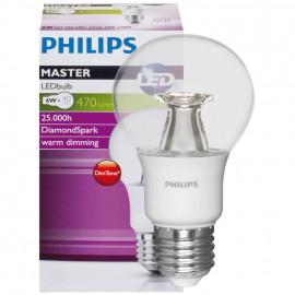 LED Lampe, AGL MASTER LEDBulb, DimTone, E27 / 6W, klar, 470 lm, Länge 110 mm, Ø 60 mm
