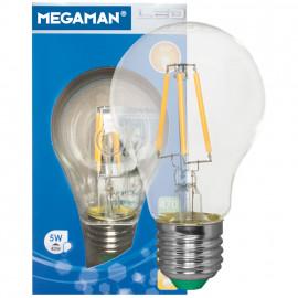 LED Fadenlampe, AGL, E27 / 5W, klar, 470 lm, Megaman