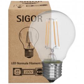 LED Fadenlampe, AGL, E27 / 4W, klar, 380 lm, dimmbar, Sigor
