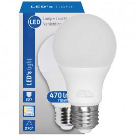 LED Lampe, AGL E27 / 7W, opal, 470 lm, 2700K LED´s light