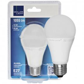LED Lampe, AGL E27 / 13W, opal, 1055 lm, 2700K Müller Licht