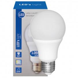 LED Lampe, AGL E27 / 12W, opal, 1055 lm, 2700K LED´s light