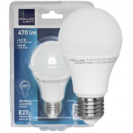 LED Lampe, AGL E27 / 5,5W, matt, 2700K, 470 lm Müller Licht