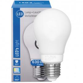 LED Lampe, AGL E27 / 7W, opal, 630 lm, 2700K LED´s light