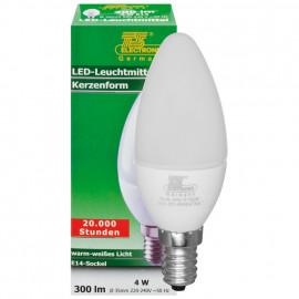 LED Lampe, Kerze, E14 / 4W, satiniert, 300 lm, TS Electronics