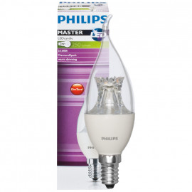 LED Lampe, Kerze, MASTER LEDcandle, DIMTONE, E14 / 4W, klar, 250 lm, Philips