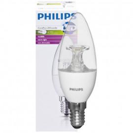 LED Lampe, Kerze, COREPRO LEDcandle, E14 / 5,5W, klar, 470 lm, Philips