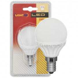 LED Lampe, Tropfen, E14 / 3W, opal, 250 lm, Lightme