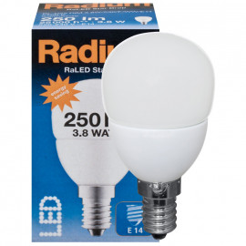 LED Lampe, Tropfen, RaLED STAR DROP, E14 / 3,8W, matt, 250 lm, Radium