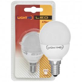 LED Lampe, Tropfen, E14 / 5,5W, opal, 470 lm, Lightme