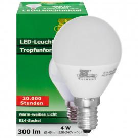 LED Lampe, Tropfen, E14 / 4W, satiniert, 300 lm, TS Electronic