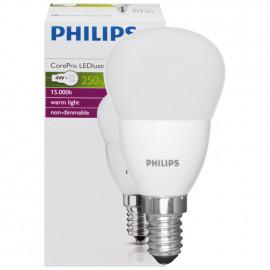 LED Lampe, Tropfen, COREPRO LEDluster, E14 / 4W, matt, 250 lm, Philips