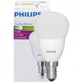LED Lampe, Tropfen, COREPRO LEDluster, E14 / 5,5W, matt, 470 lm, Philips