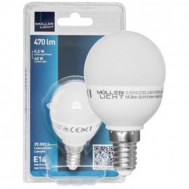 LED Lampe, Tropfen, E14 / 5,5W, matt, 250 lm, Müller Licht
