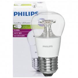 LED Lampe, Tropfen, COREPRO LEDluster, E27 / 4W, klar, 250 lm, Philips