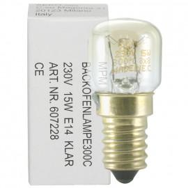 Backofenlampe, E14 / 25W, Birnenform, hitzebeständig bis 300°C klar
