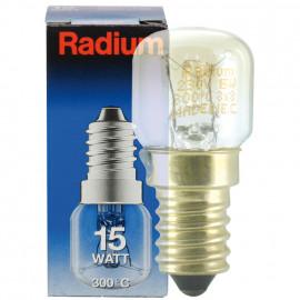 Backofenlampe, E14 / 15W, Birnenform, klar Radium