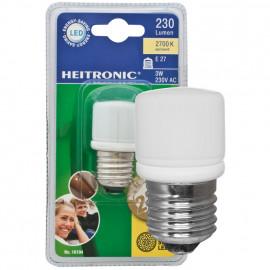 LED Lampe, Form Birne, E27 / 3W, opal, 230 lm, Heitronic