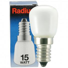 Kühlschranklampe, E14 / 15W, Birnenform, matt Radium