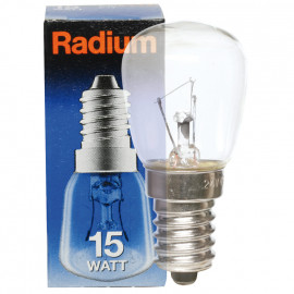 Kühlschranklampe, E14 / 15W, Birnenform, klar Radium