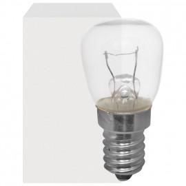 Speziallampe für Notbeleuchtung, E14 / 24V / 25W, Birnenform, klar