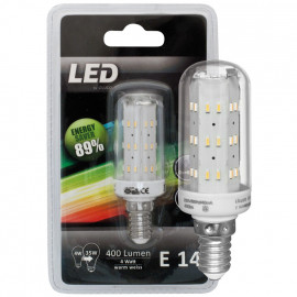 LED Lampe, Form Röhre, E14 / 4W, klar, 400 lm, LeuchtenDirekt