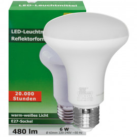 LED Lampe, Reflektor, E27 / 6W, 480 lm, TS Electronic