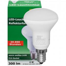 LED Lampe, Reflektor, R50, E14 / 4W, 300 lm, 120 cd, TE Electronic