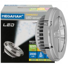 LED Lampe, Reflektor, G53 / 15W, 850 lm, 2800K, Megaman